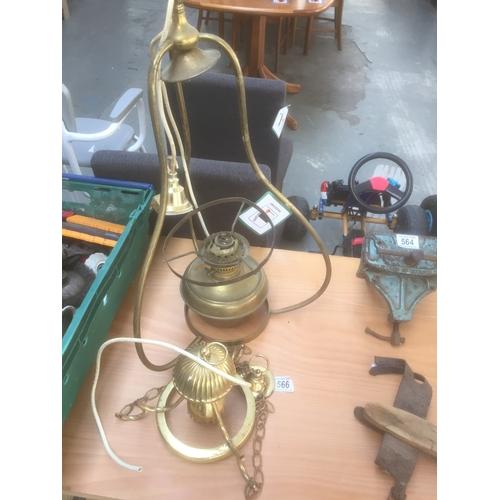 566 - Brass Light Fittings...