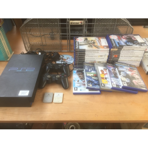 557 - PS2 Console, Accessories & Games...