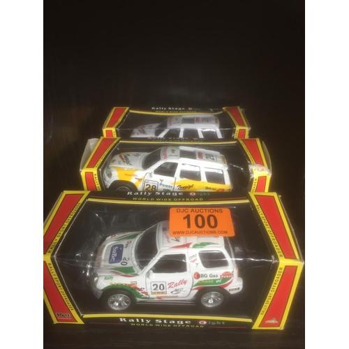 100 - 3 x Die Cast Cars...