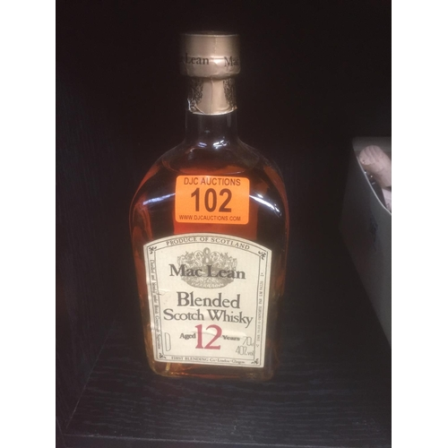 102 - Maclean Scotch Whisky - Sealed...