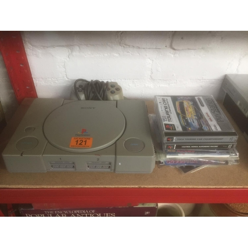 121 - PS1 Console & Games...