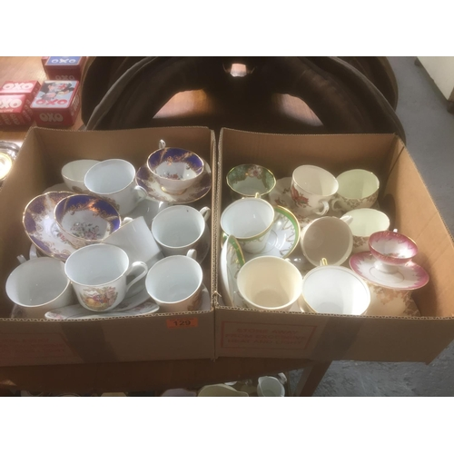 129 - 2 x Boxes of China Cups & Saucers...