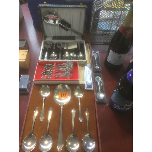 152 - Quantity of Silver Plate Spoons, etc...