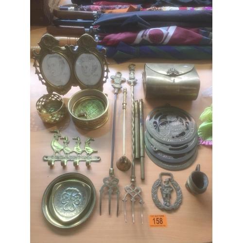 158 - Quantity of Brassware...