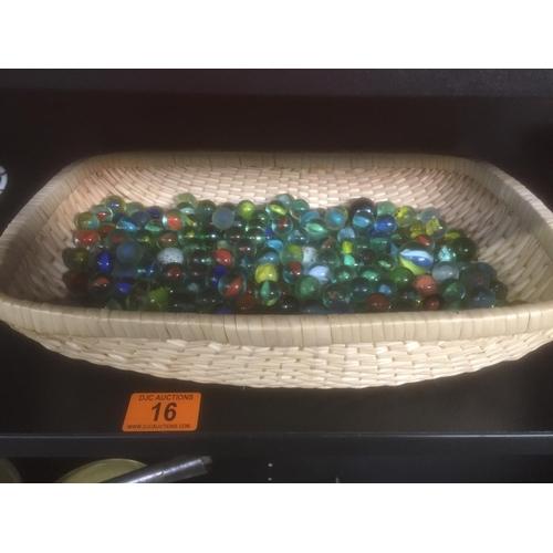 16 - Basket of Vintage Marbles...