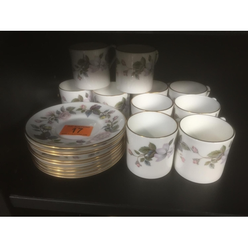 17 - Royal Worcester Cups & Saucers...