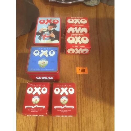 199 - Quantity of Vintage OXO Boxes...