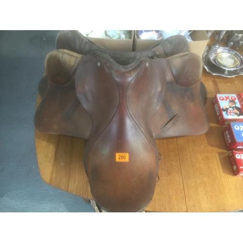 200 - 2 x Old Saddles...