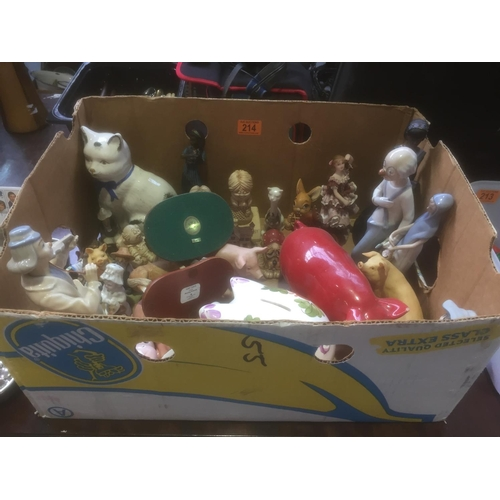 214 - Box of Ornaments...