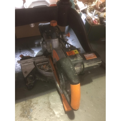 217 - Evolution Mitre Saw...