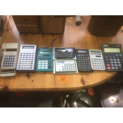221 - Quantity of Calculators...