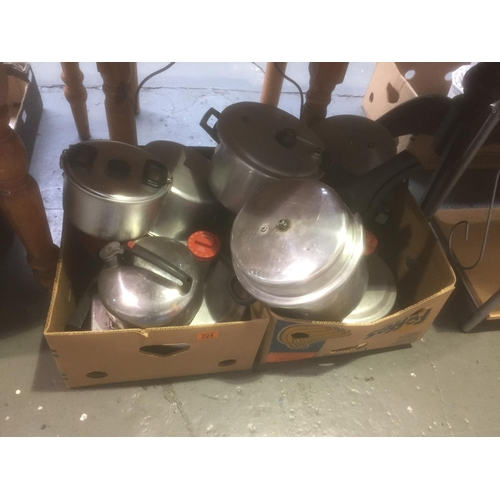 224 - Quantity of Camping Pans, etc...