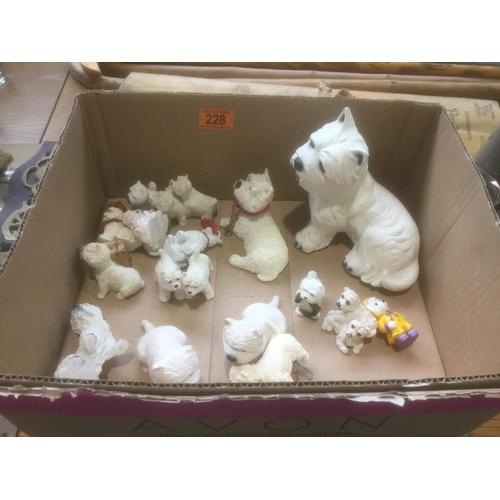 228 - Box of Westie Dogs...