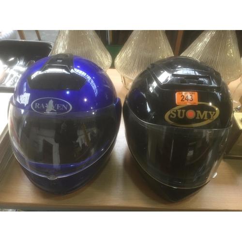 243 - 2 x Motorcycle Helmets...