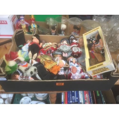264 - Quantity of Vintage Dolls...