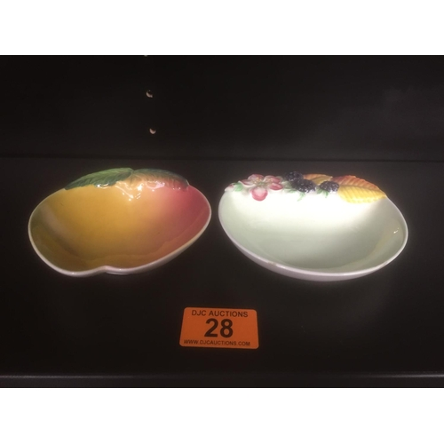 28 - 2 x Coalport Pin Dishes...