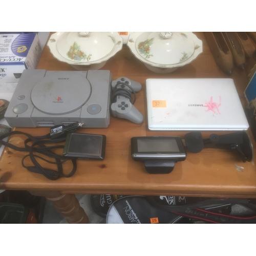 378 - PS1, Samsung Notebook, Sat Nav's...