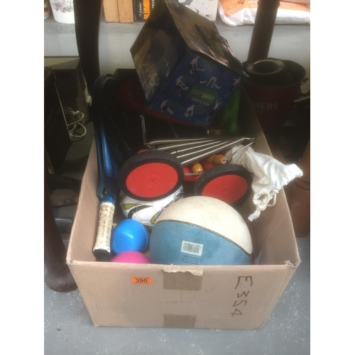 390 - Box of Sporting Items...
