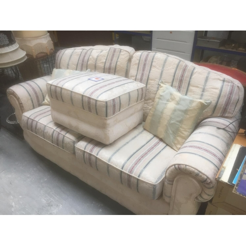 412 - Upholstered Double Sofa & Footstool...