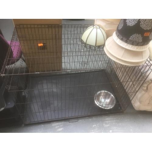 414 - Large Dog Cage...