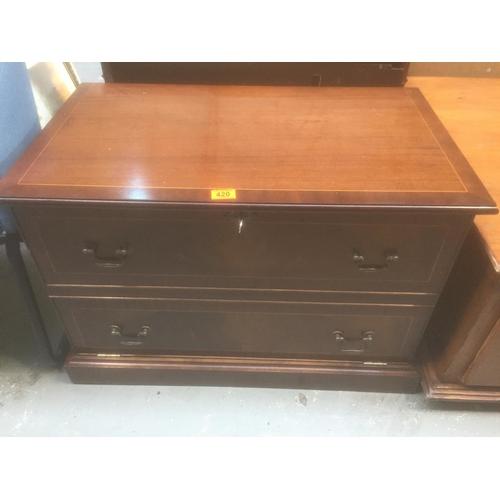 420 - Mahogany Cabinet...