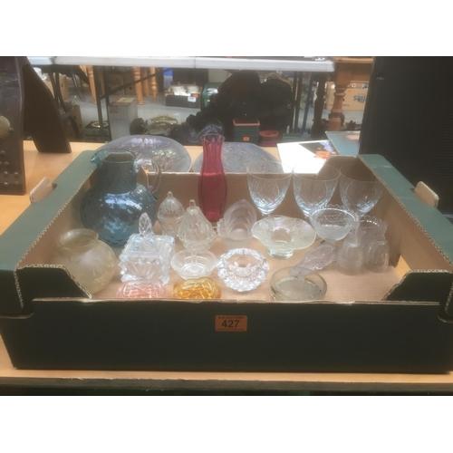 427 - Box of Glassware...