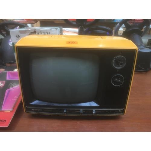 437 - Vintage Orange Sanyo TV...