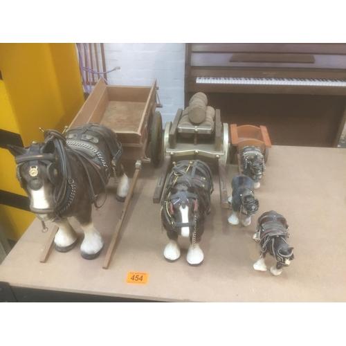 454 - Quantity of Horse & Carts...