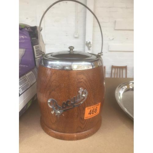 466 - Vintage Biscuit Barrel...