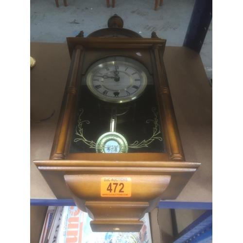 472 - Cased Wall Clock...