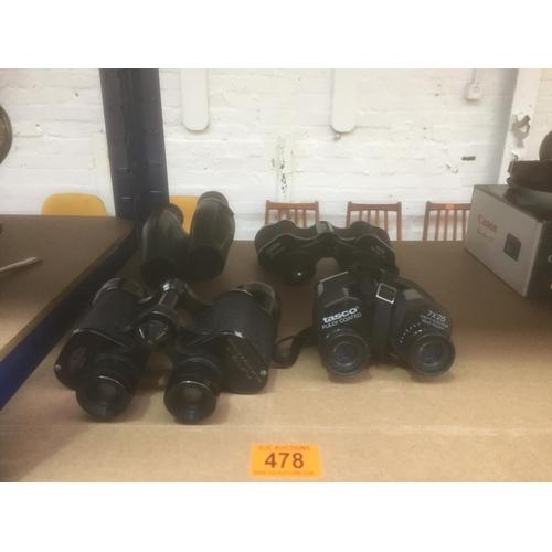 478 - 4 x Binoculars...