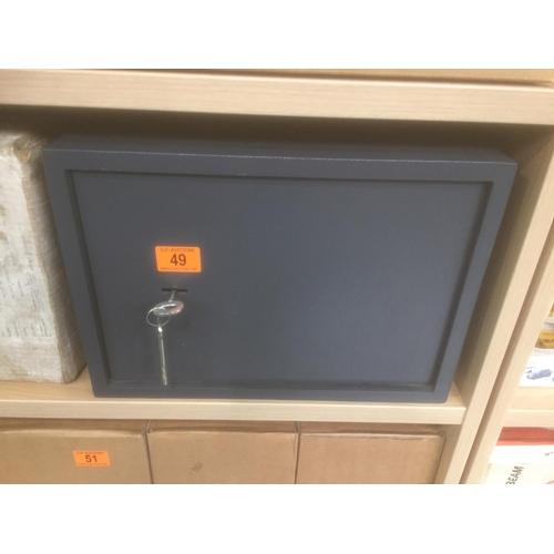 49 - Metal Safe with Keys...