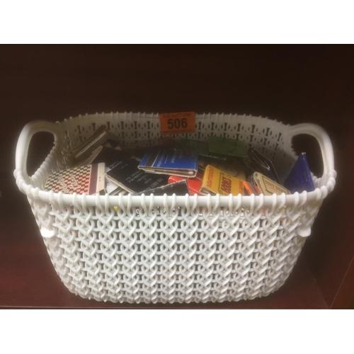 506 - Basket of Vintage Matches...
