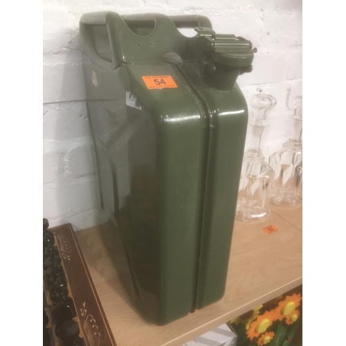54 - Green Military Petrol Can...