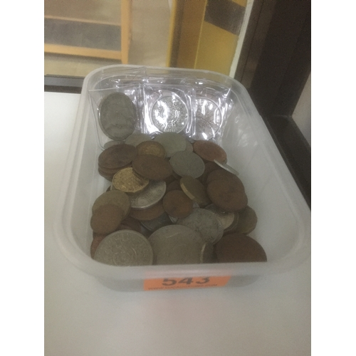 543 - Box of Old Coins...