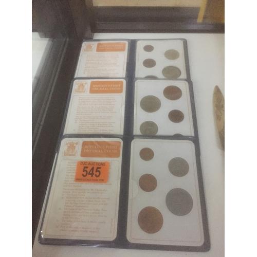 545 - 3 x Decimal Coin Sets...
