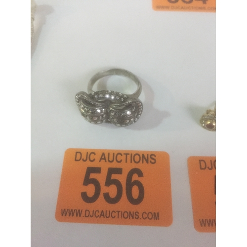 556 - Silver .835 Dress Ring...