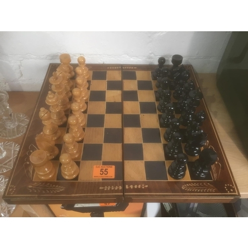 55 - Wooden Chess Set...