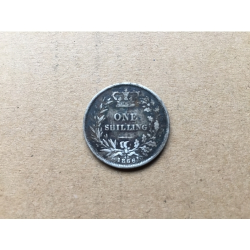 828 - Victorian One Shilling 1866...