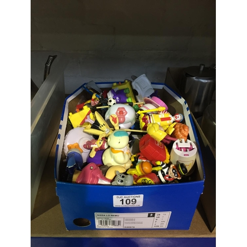 109 - Box of Fast Food Toys...