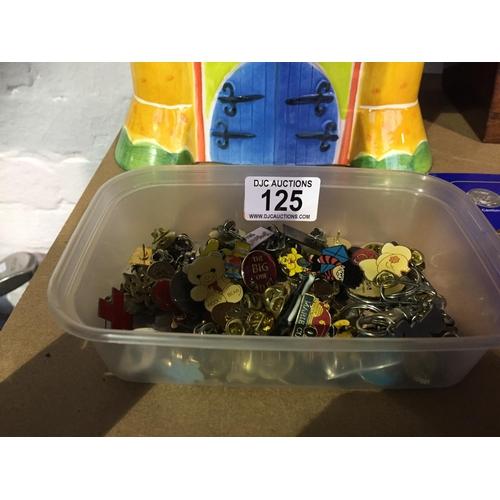 125 - Box of Pin Badges...