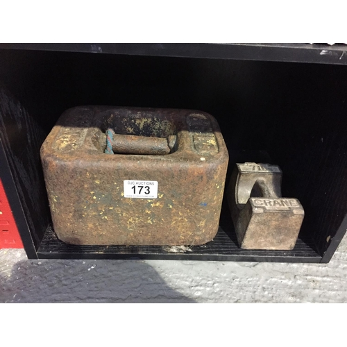 173 - 2 x Large Cast Weights...