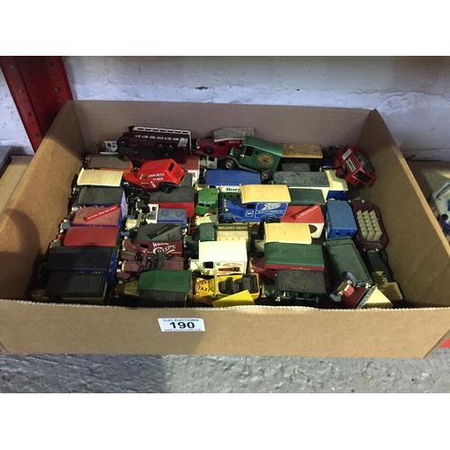 190 - Box of Diecast Model Cars/Trucks...