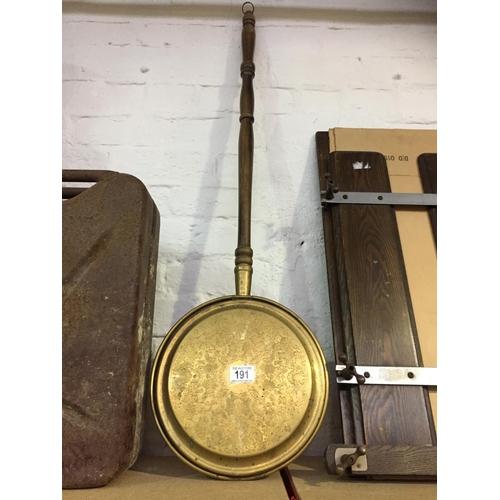 191 - Brass Bed Warmer...