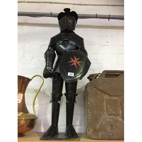 193 - Large Metal Knight Armour Display...