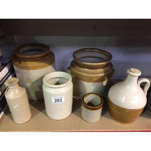 203 - Quantity of Stoneware...