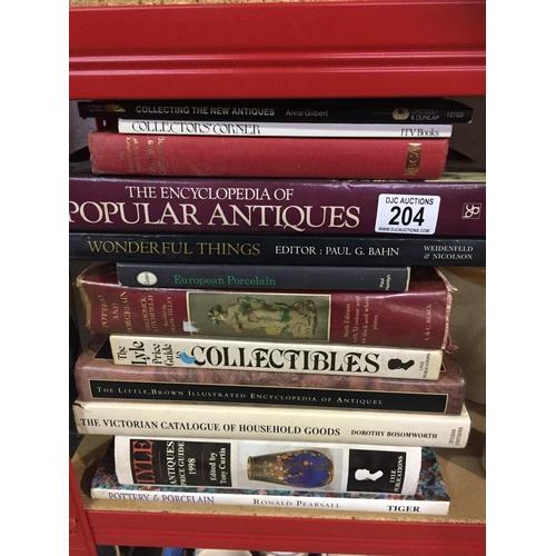 204 - Quantity of Antique Guide Books...