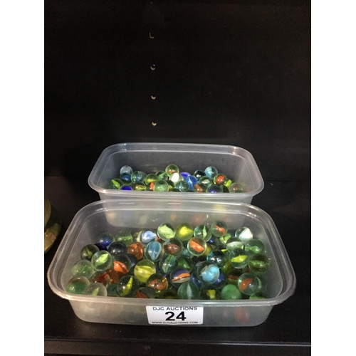 24 - 2 x Boxes of Vintage Marbles...