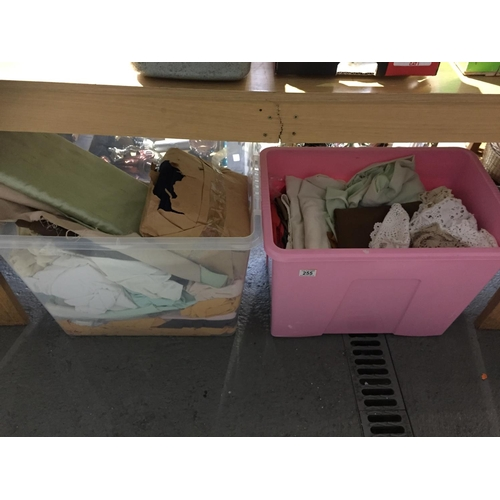 255 - 2 x Large Boxes of Linens...