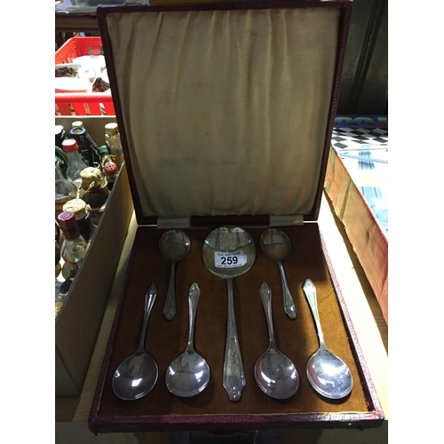 259 - Silver Plate Spoon Set...